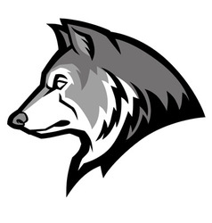 Wolf mascot vector