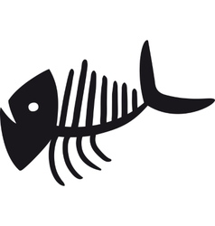 Curve fish skeleton vector