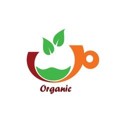 Organic icon color vector