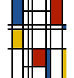 Mondrian background retro print vector