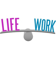 Balance life and work decision choice vector