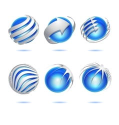 Abstract 3d sphere set vector