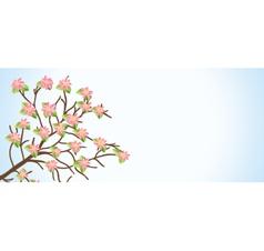 Flower branch vector