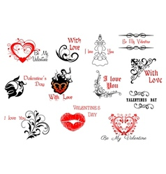 Valentines day headers and scripts vector