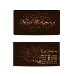 Business card with brown leather background vector