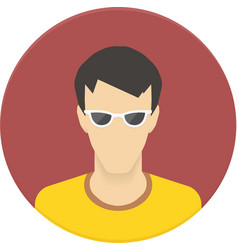 Icon of user avatar for web site or mobile vector