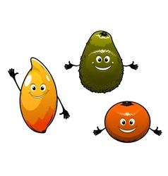 Avocado mango and orange vector