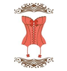 Sexy retro style corset vector