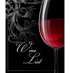 Template for wine list vector