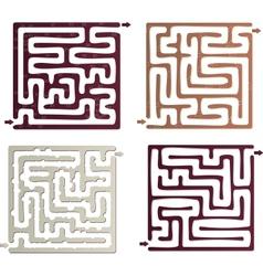 Set of maze vector