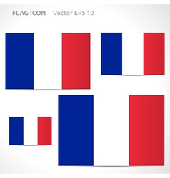 France flag template vector