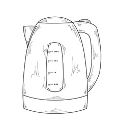 Electric kettle vector