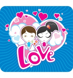 Valentine's postcard vector