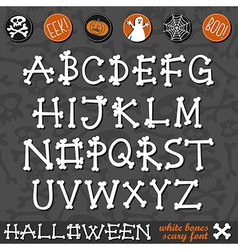 Halloween bone alphabet vector