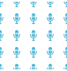 Unique microphone seamless pattern vector