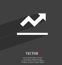 Graph chart diagram icon symbol flat modern web vector