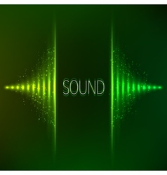 Green neon stereo equalizer vector