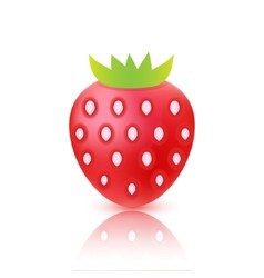 Strawberry berry icon isolated vector