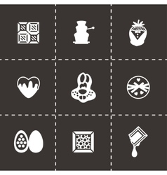 Chocolate icon set vector