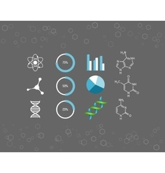 Science icons and chemical element formulas vector