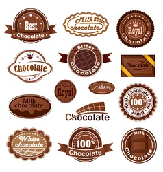 Set of chocolate badges vector