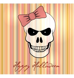 Halloween card background vector