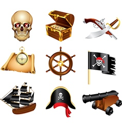 Icons pirates vector