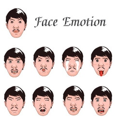 Face emotion vector