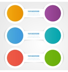 Abstract circles template object design vector