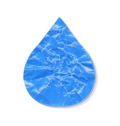Paper water drop vector