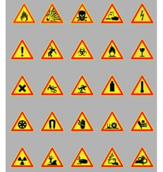 Hazard lights vector
