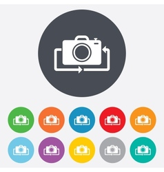 Front photo camera sign icon change symbol vector
