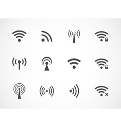 Set of different wireless and wifi icons vector
