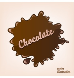 Chocolate splash isolated vector