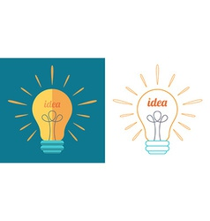 Light bulb as idea inspiration concept vector