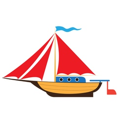Toy yacht vector