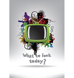 Television set background vector