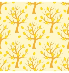 Seamless pattern with autumn trees vector