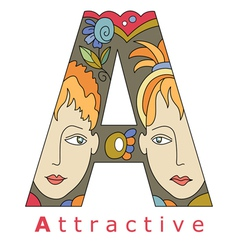 Letter a attractive vector