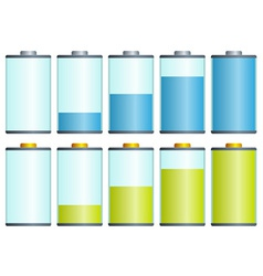 Symbols of battery level vector