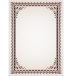 Decorative border frame background vector