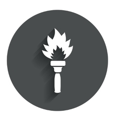 Torch flame sign icon fire symbol vector