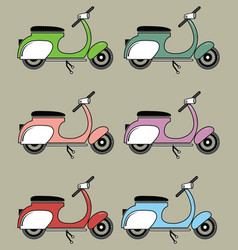 Vintage scooters ii vector