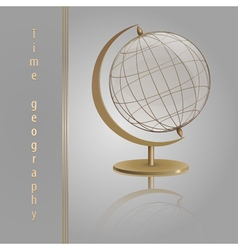 Golden globe glass vector