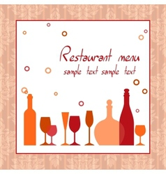 Alcohol bar or restaurant menu vector