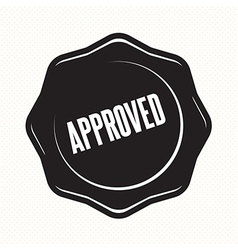 Approved retro vintage badges vector