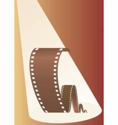 Film in beams of projector vector