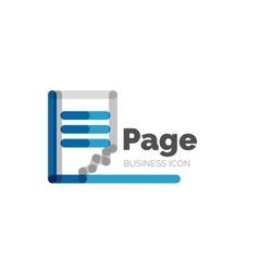 Line minimal design logo page vector