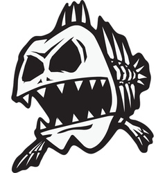 Bad bone fish vector