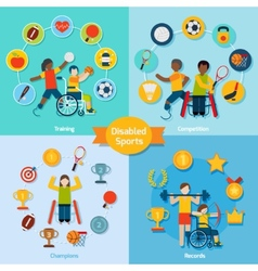Disabled sport set vector